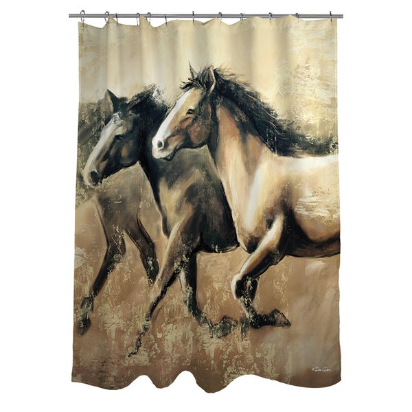 Shop Galloping Horses Shower Curtain