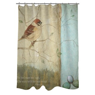 Bird Quote Sparrow Shower Curtain