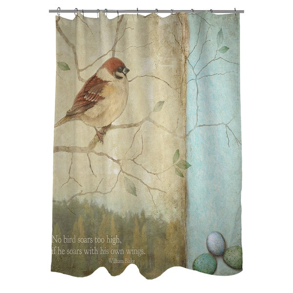Laurel Creek Kiowa Bird Quote Sparrow Shower Curtain