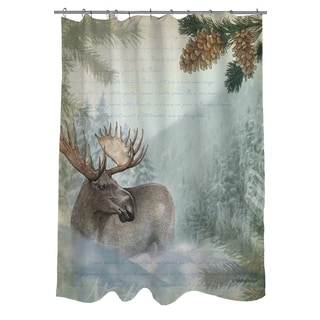 Conifer Lodge Moose Shower Curtain