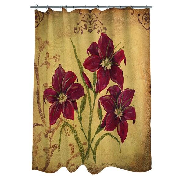 Crimson III Shower Curtain