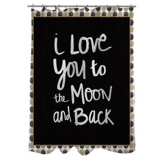 Thumbprintz Moon Gold and Black Shower Curtain