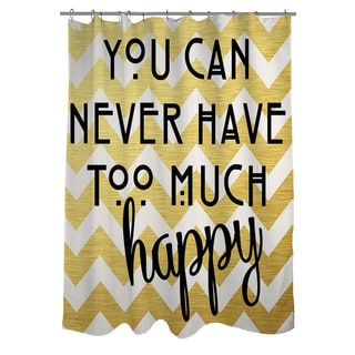 Thumbprintz Never Too Much Happy II Shower Curtain