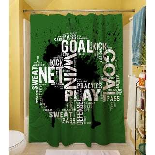 Soccer Goal Win Play Shower Curtain