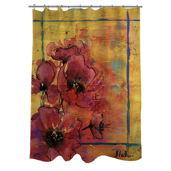 Artistic Poppy I Shower Curtain