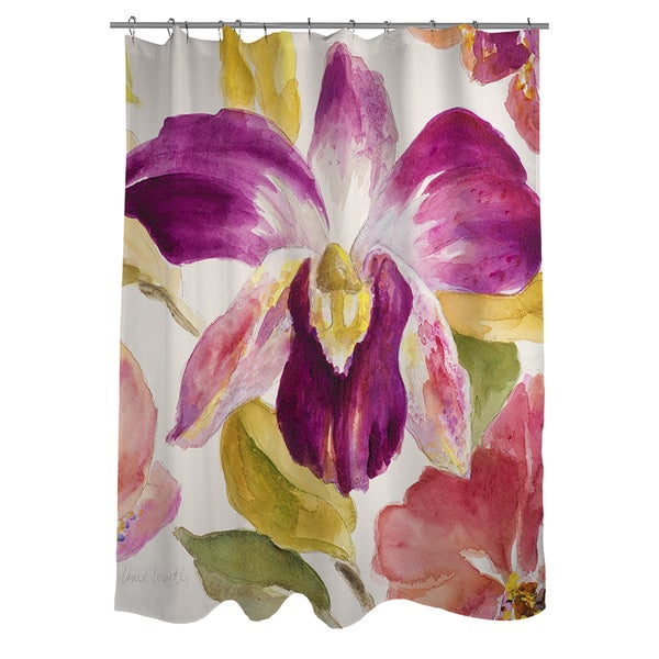 Thumbprintz Radiant Orchid Shower Curtain - 17248709 - Overstock.com ...