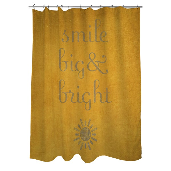Smile Big and Bright Shower Curtain