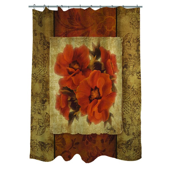 Spice Flower II Shower Curtain