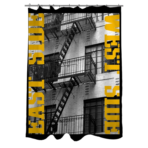 East Side Yellow Shower Curtain
