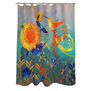 Thumbprintz Daisy Hum Teal Shower Curtain
