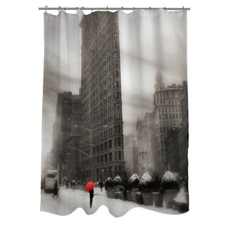 Flatiron Winter Shower Curtain
