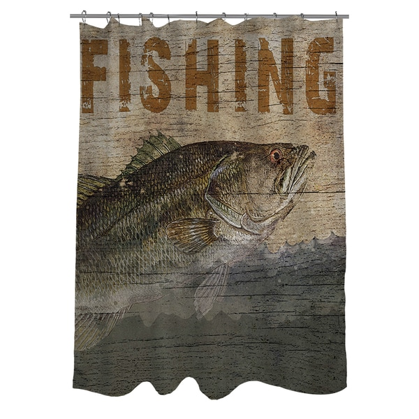 Shop Fishing Shower Curtain On Sale Free Shipping