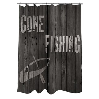 Thumbprintz Gone Fishing Shower Curtain