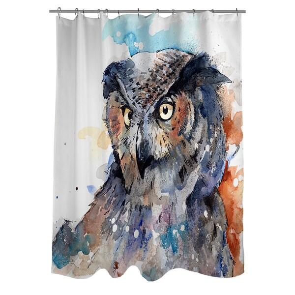 Horned Owl Shower Curtain