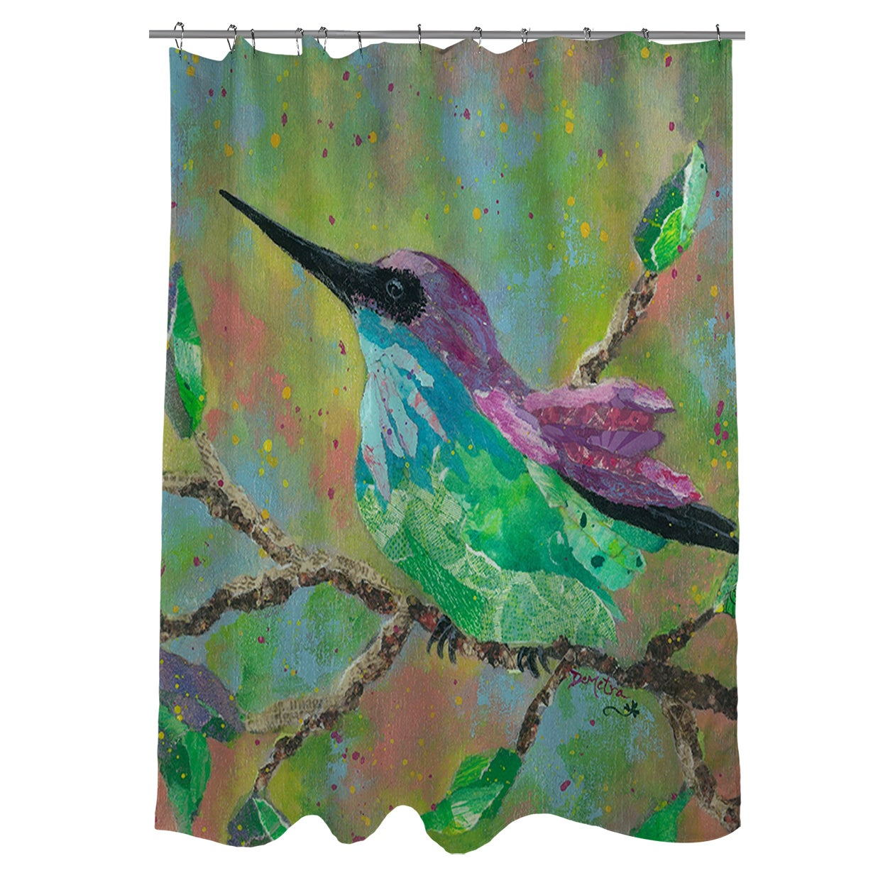 Shop Hummingbird Shower Curtain