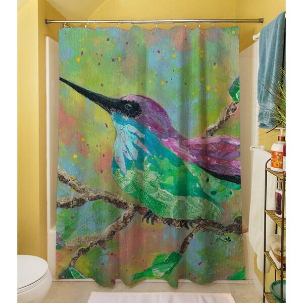 Hummingbird Shower Curtain   Free Shipping Today   Overstock.com   17248731