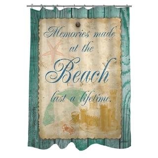 Memories at the Beach Shower Curtain