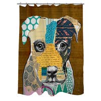 Pattern Pit Bull Collage Shower Curtain
