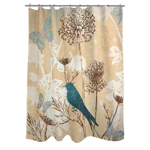 The Gray Barn Ivy Hollow Polyester Bird Shower Curtain