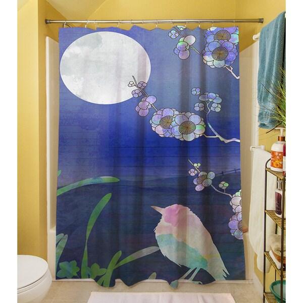 Songbird and Moon Shower Curtain