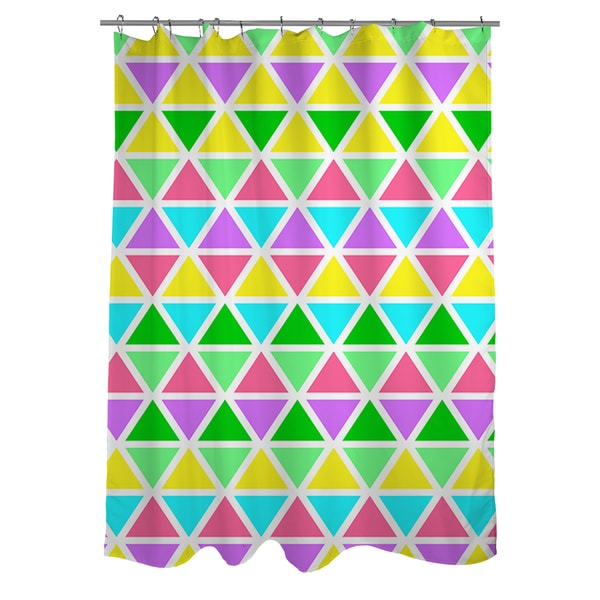 Neon Party Geo Pattern Shower Curtain
