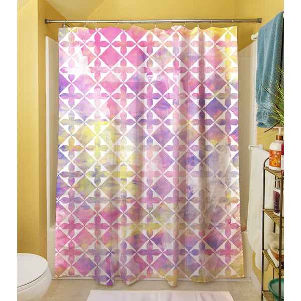 Summer Florals Pattern III Shower Curtain
