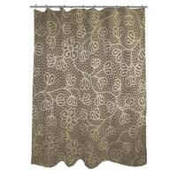 Deer Elegance Filigree Shower Curtain