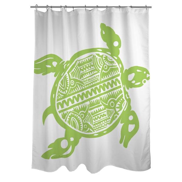 Honu Turtle Green Shower Curtain