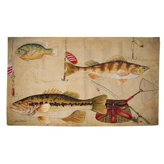Fish and Lures Rug (2' x 3')