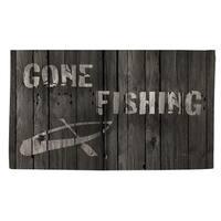 Gone Fishing Rug - Brown - 2' x 3'