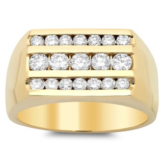 14k Gold Men's 1 2/5 ct TDW Diamond Ring (F-G, SI1-SI2)