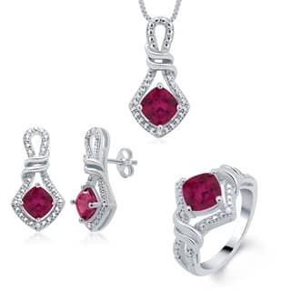 Divina Rhodium over Brass Birthstone Diamond Accent 3-piece Jewelry Set https://ak1.ostkcdn.com/images/products/10109090/P17249184.jpg?impolicy=medium