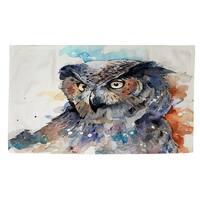 Horned Owl Rug - multi