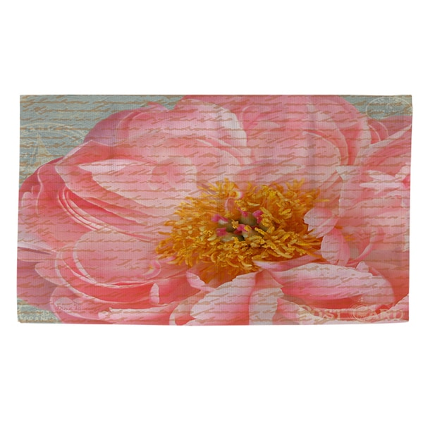 Shop Pink Rose Cursive Rug 2 X 3 On Sale Free