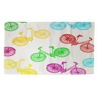 Neon Party Bike Pattern Rug (2' x 3')