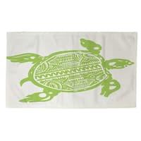 Honu Turtle Green Rug (2' x 3')