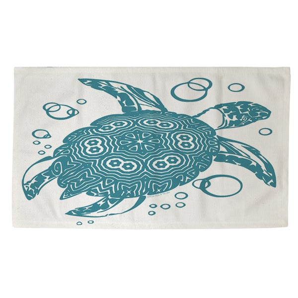 Shop Honu Turtle Teal Rug