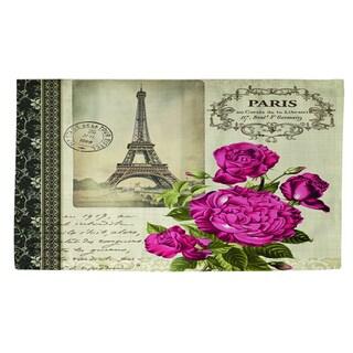 Springtime in Paris All Roses Rug (4' x 6') - 4' x 6'