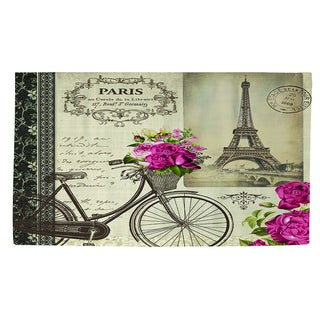 Thumbprintz Springtime in Paris Bicycle Rug (4' x 6')