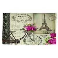 Springtime in Paris Bicycle Rug (4' x 6')