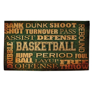 Thumbprintz Basketball Words Rug (4' x 6')