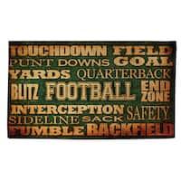 Football Words Rug - multi