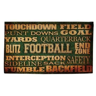 Football Words Rug (4' x 6')