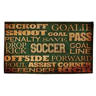 Thumbprintz Soccer Words Rug (2' x 3')