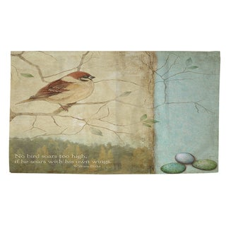Thumbprintz Bird Quote Sparrow Rug (4' x 6')
