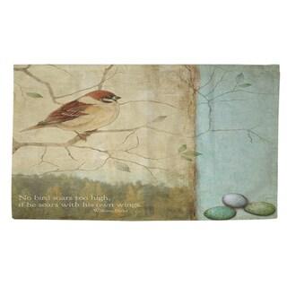 Bird Quote Sparrow Rug (4' x 6') - 4' x 6'