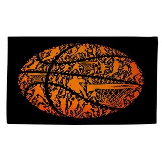 Thumbprintz Basketball Sports Silhouettes Rug (2' x 3')