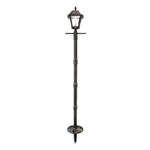 Gama Sonic Baytown II Solar Lamp Post and LED Lamp Head with EZ-Anchor Base