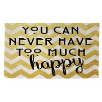 Never Too Much Happy II Rug - 2' x 3'