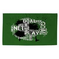 Soccer Goal Win Play Rug - multi